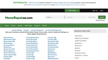 HomeRepairzz.com - A national to local home repair related listings marketplace.