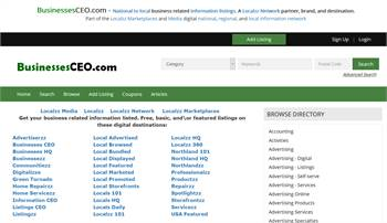 BusinessesCEO.com  - National to local business and information listings.
